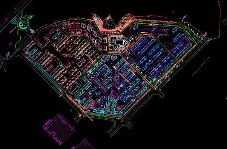 [武汉]四季花城东区建筑施工图