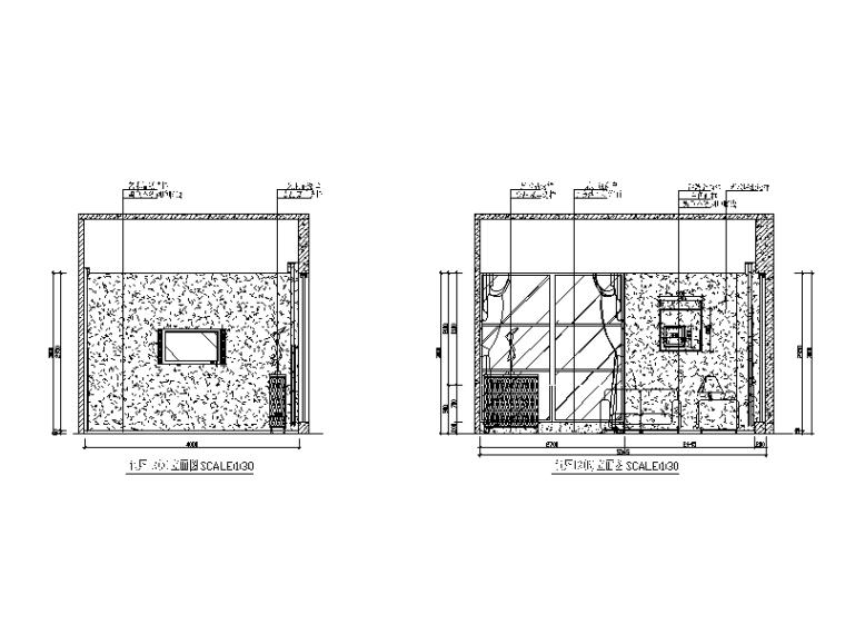某现代风格西餐厅设计CAD施工图(含实景图)_4