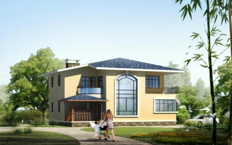 简洁大方二层独栋别墅建筑设计施工图