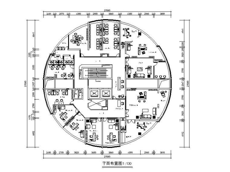 [江西]全套国际事务办公室设计施工图(含效果图)