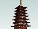 日本古建筑SU模型