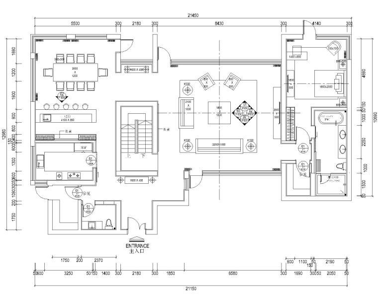 美国塞班岛高档五居室别墅全套CAD施工图(附效果图)