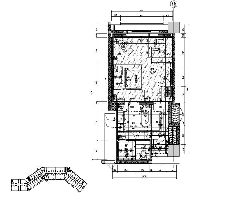 惠州翡翠山华美达酒店客房施工图设计+效果图