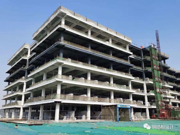公寓楼钢框架施工现场介绍,不常去现场的设计师看过来