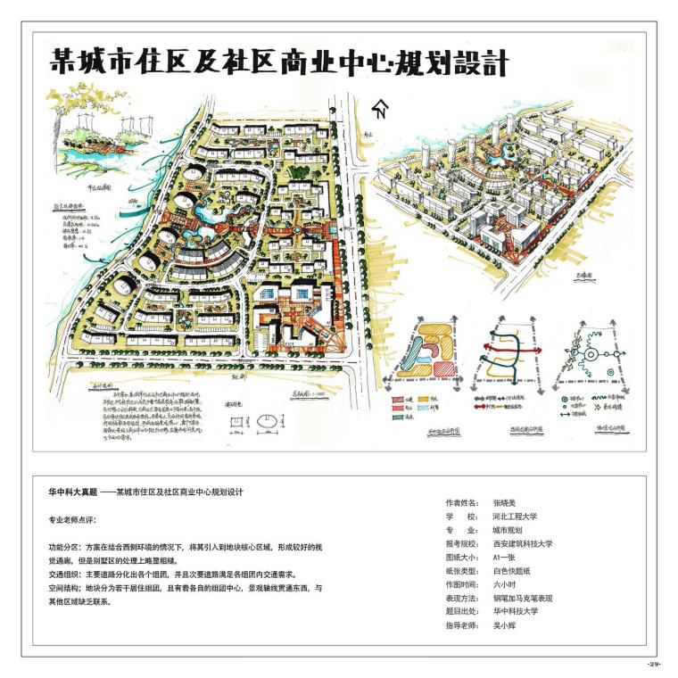 《城市规划快题100例》考研手绘资料-A (30)