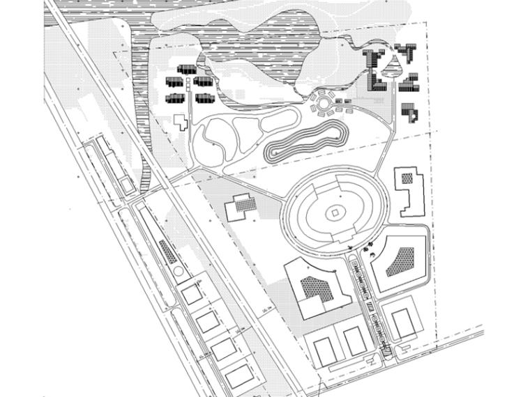 汽车主题公园施工图纸(结合:休闲度假村景观设计)
