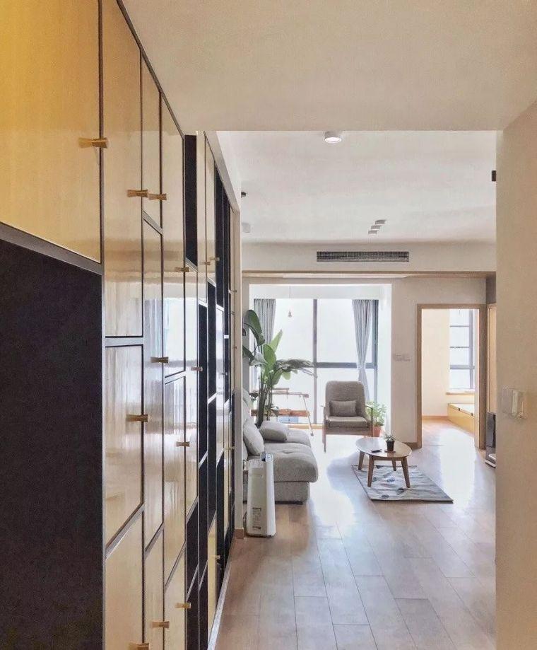 第一次见浅色中式原木装修,屏风隔断太美,98平3居室真的棒!