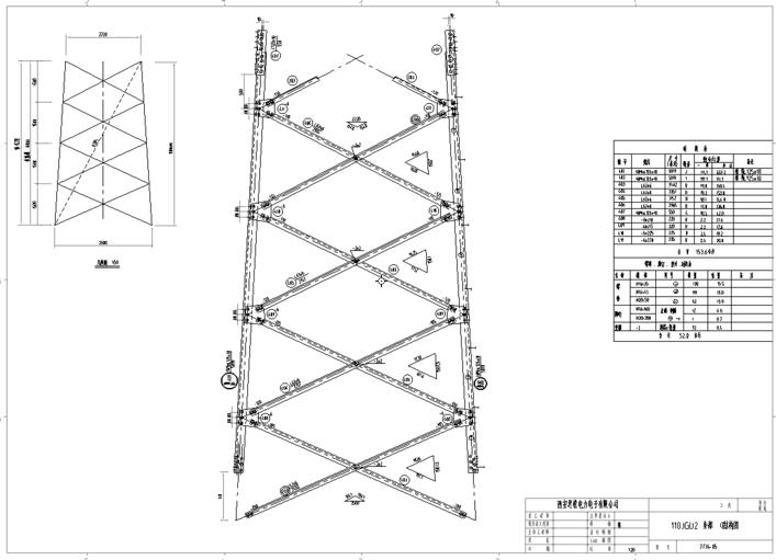 110JGu2双回路60度铁塔