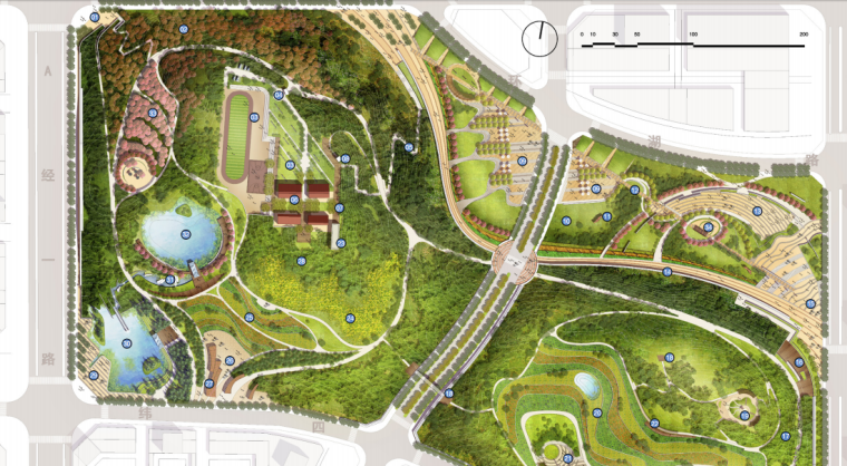 [安徽]含山县山体高差森林公园修建性详细规划设计B-1平面图