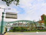 钢桁架人行天桥是如何建成的!1
