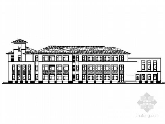 [天津]三层框架结构坡屋顶市级幼儿园改建施工图