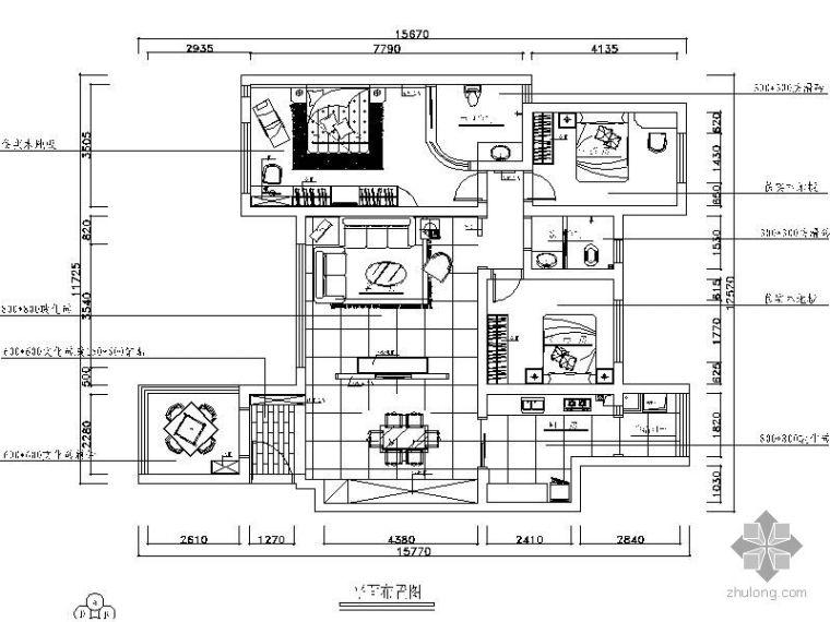 [湖南]现代三居装修图(含效果)