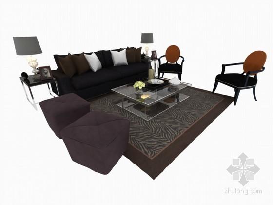 时尚舒适沙发3D模型下载