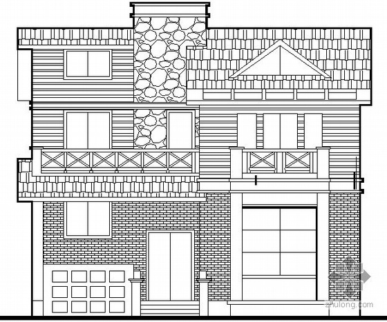 [安徽]某二层接待公寓建筑施工图