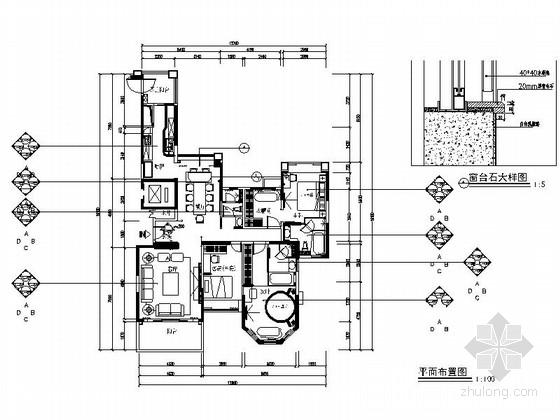 [深圳]110平三室两厅现代风格样板房装修图(含效果)