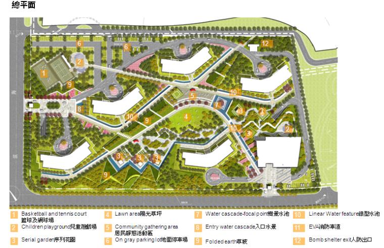 [辽宁]弧形海岸风格广场小区景观方案