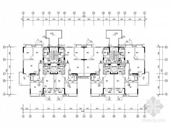 [湖南]二类住宅楼给排水管道消防施工图