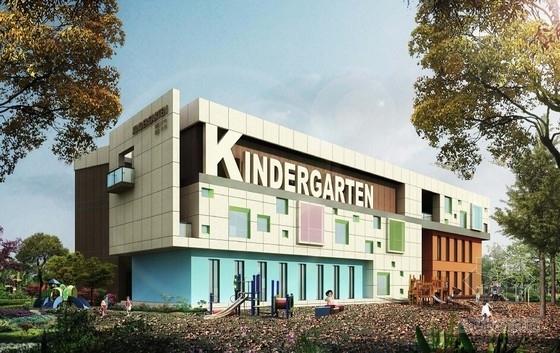 [安徽]现代风格多层6班及9班幼儿园建筑设计方案文本(两栋建筑)