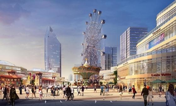滨河现代风格城市综合体效果图