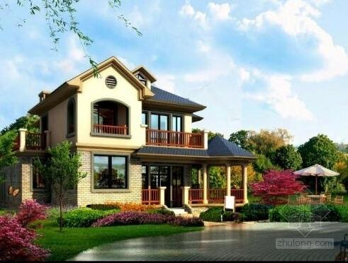 纯英式乔治亚庄园风格框架结构别墅群结构施工图