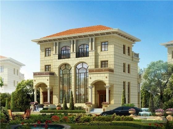 [江西]简欧风格住宅小区规划设计方案文本(含CAD 高层 多层 别墅)