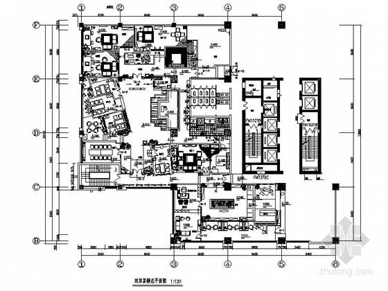 特色古香中式茶楼室内装修设计施工图(含实景图)