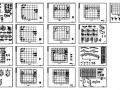 新疆某空心楼板框架体育馆结构图