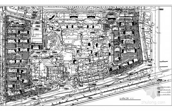 [杭州]花园住宅小区园林景观施工图