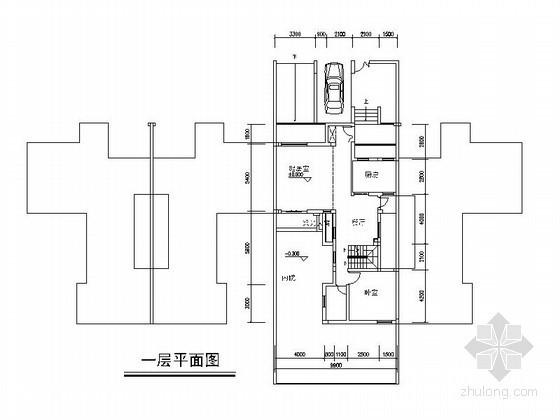 两套三层联排别墅户型图
