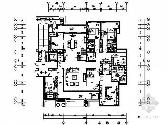 [广州]精装复式样板房施工图(含效果)