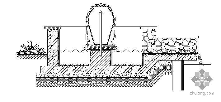 某广场跌水和围树椅施工详图