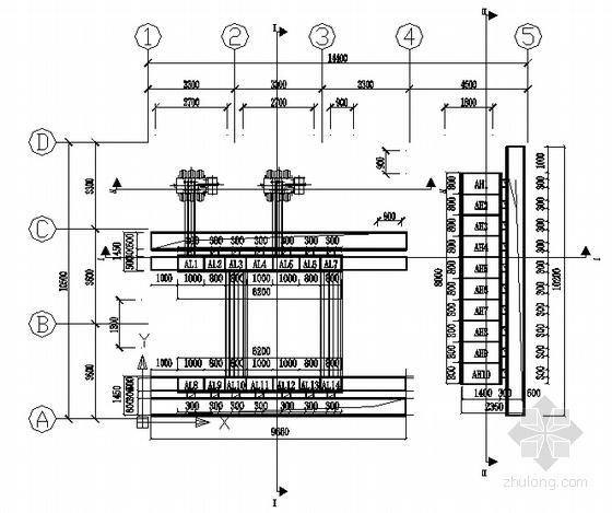 变压器室工程设备平面布置图