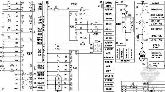 污水车间电力变压器电气控制图