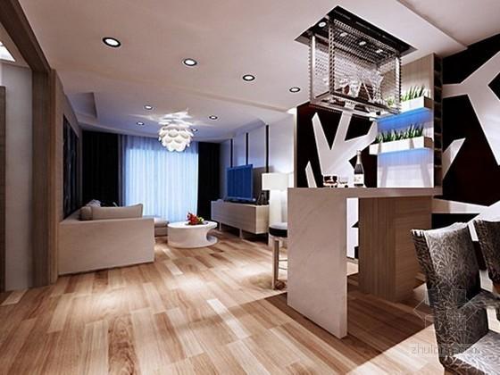 现代小户型客厅3d模型