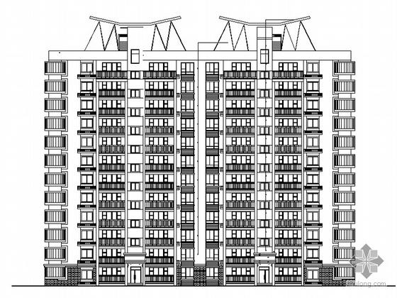 [湖南城建职院优秀作业]十一层板式住宅楼施工套图(效果图)