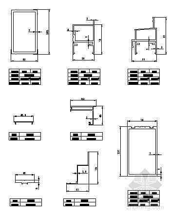 150系列(C型)隐框玻璃幕墙型材图