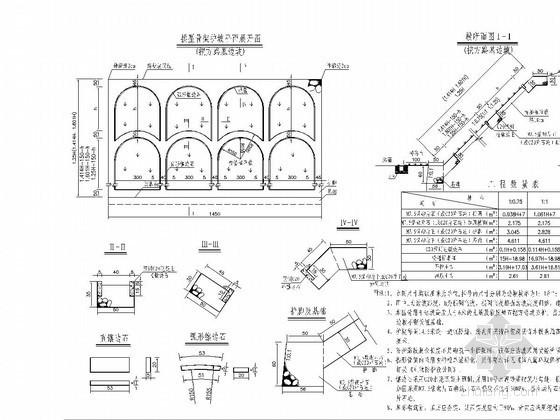 高速公路拱形骨架护坡设计图CAD