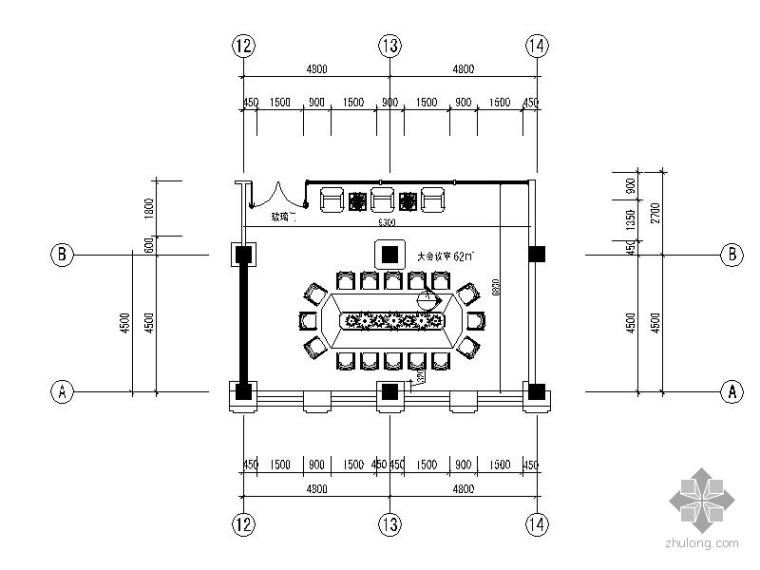会议室空间施工图B_1