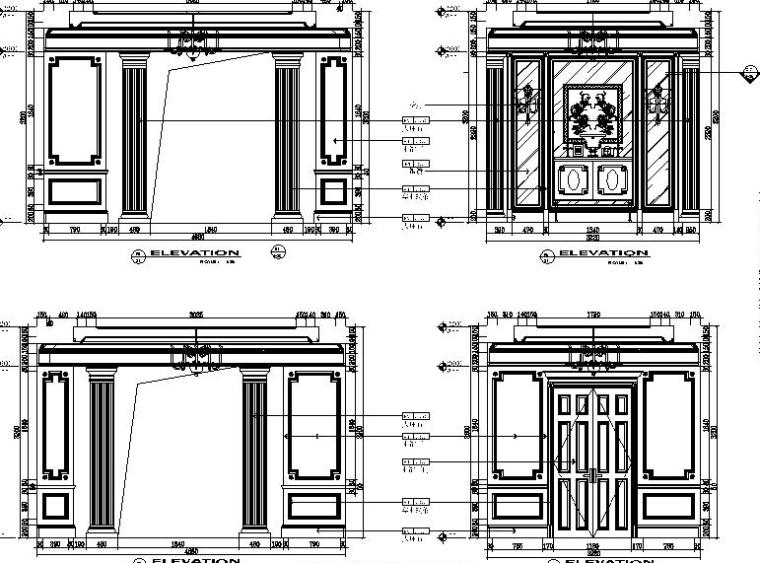 [吉林]经典豪华法式样板房室内设计施工图(含设计方案)_9