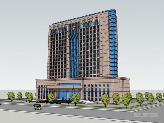 政府办公建筑SketchUp模型下载-政府办公建筑