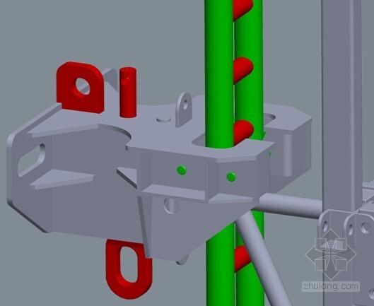 核心筒结构建筑群附着升降脚手架施工专项方案(附图及计算书)