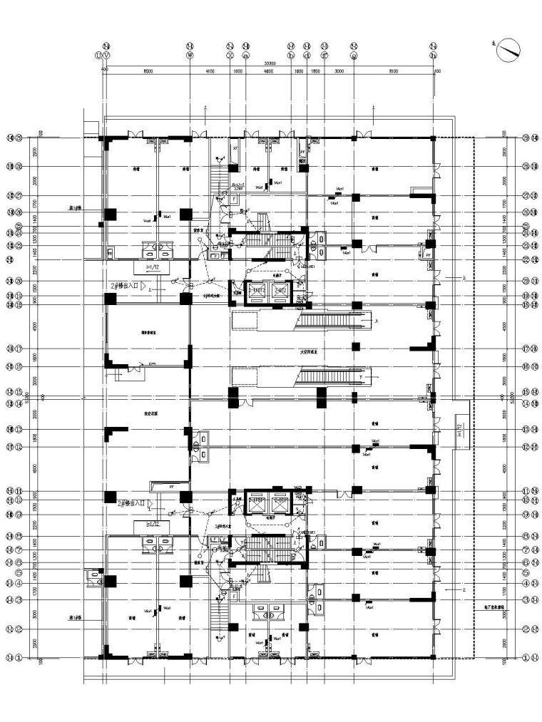 [广东]二十四层商住楼电气施工图含变配电所
