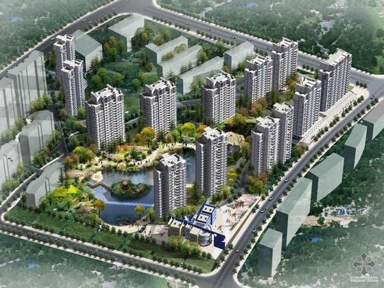 [青岛]某小区A2地块工程报建方案设计及高精度文本(带效果图)