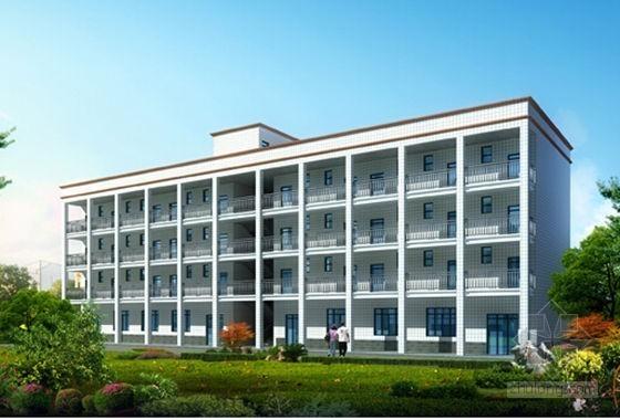 [毕业设计]宿舍及食堂建筑安装工程量预算书(施工图纸)