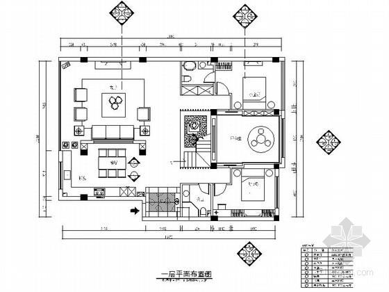 精品现代简约风格两层别墅室内设计装修施工图(含效果)