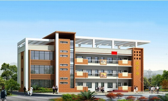 [安徽]教学楼建筑及安装工程量清单计价实例(附图纸及软件文件)