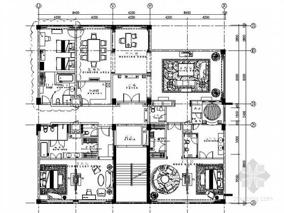 [厦门]豪华五星级假日酒店总统套房室内装修图