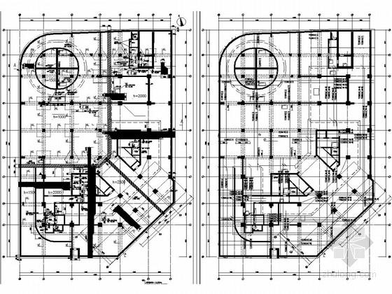 [郑州]35层框架剪力墙国际中心商务办公楼结构图(地下三层)
