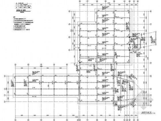 [深圳]二层框架售楼部结构施工图