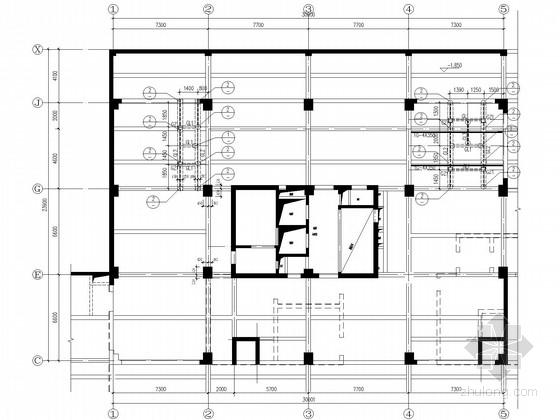 15层框架结构增加电梯加固施工图